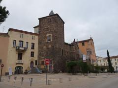 Château - Nederlands: Overgebleven toren van het oude kasteel