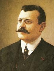Musée Joseph Dechelette - Deutsch: Porträt des französischen Archäologen Joseph Déchelette (1862–1914), nach seinem Tod von Albert Dawant nach einer Fotografie gemalt.