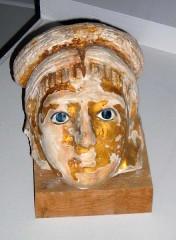 Musée Joseph Dechelette -  masque funéraire, époque romaine