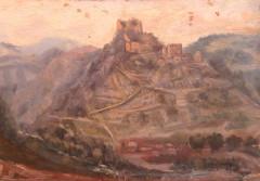 Château de Couzan (restes) - Deutsch: Ansicht der Burg Couzan von Osten