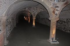 Château de la Bastie-d'Urfé - English:  The grain cellars, beneath the guard.
