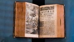 Château de la Bastie-d'Urfé - English:  A tome of The Astrea, roman-fleuve of Honoré d'Urfé of which is apocryphal.