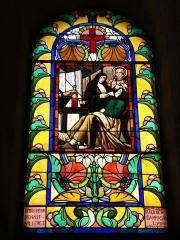 Eglise paroissiale de Saint-Priest - English: Villerest (Loire, Fr), un vitrail dans l'église.