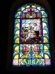 Eglise paroissiale de Saint-Priest - English: Villerest (Loire, Fr), vitrail d'église