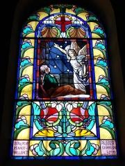 Eglise paroissiale de Saint-Priest - English: Villerest (Loire, Fr), vitrail dans l'église