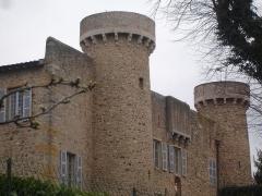 Château - Français:   Charly (69): Les tours du château