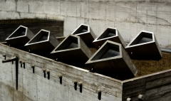 Couvent Sainte-Marie-de-la-Tourette - English: The Skylights at Couvent de La Tourette in France by Le Corbusier