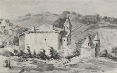 Château du Sou - Français:   Château du Sou en 1843 - Gravure d\'Irénée Morel de Voleine
