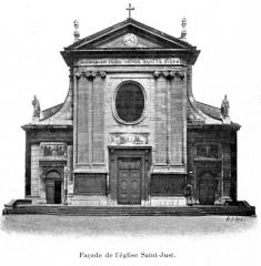 Eglise Saint-Just - Français:   Illustration pour l\'Histoire des églises et chapelles de Lyon