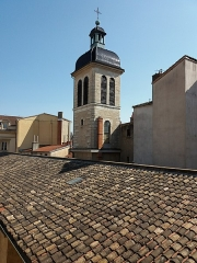 Eglise Saint-Pierre-des-Terreaux - Français:   Clocher vu des toits.