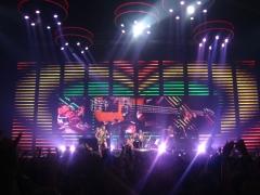 Ancien marché aux bestiaux des abattoirs de la Mouche, actuellement salle des fêtes et salle de concert dite halle Tony Garnier - English: Red Hot Chili Peppers live at Lyon, Rhône, France.