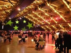 Ancien marché aux bestiaux des abattoirs de la Mouche, actuellement salle des fêtes et salle de concert dite halle Tony Garnier -  Cocktail de boas vindas do ICT 2008  -