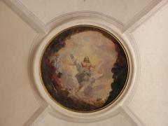 Palais Saint-Pierre ou ancienne abbaye des Dames de Saint-Pierre - louis Cretey. L'Ascencion. Peinture du médaillon central ornant les voûtes du réfectoire du Palais Saint-Pierre de Lyon (69).