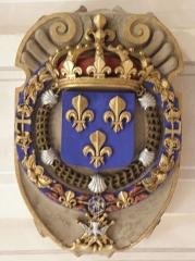 Palais Saint-Pierre ou ancienne abbaye des Dames de Saint-Pierre - Français:   Armes de France ornant la partie orientale voûte du réfectoire du Palais Saint-Pierre de Lyon (69).