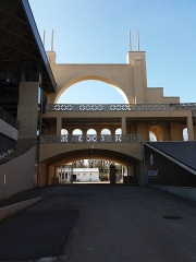 Stade municipal dit stade Gerland - Français:   Arche principale nord, de l\'intérieur.