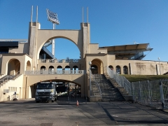 Stade municipal dit stade Gerland - Français:   Arche principale sud.