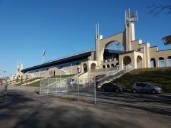 Stade municipal dit stade Gerland - Français:   Entrées principales, depuis le sud.
