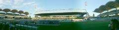 Stade municipal dit stade Gerland - Français:   Vu panoramique de l\'intérieur du stade de Gerland. Prise de vue depuis la tribune Jean Jaures lors de la présentation de l\'effectif lyonnais pour la saison 2010-2011