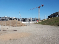 Stade municipal dit stade Gerland - Français:   Travaux au nord du stade.