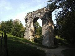 Aqueduc gallo-romain du Gier dit aussi du Mont Pilat (également sur communes de Brignais, Chaponost, Lyon, Sainte-Foy-lès Lyon, Soucieu-en-Jarrest) - Français:   Aqueduc du Gier. Le pont du Mornantet à Mornant.