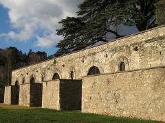 Château de Beauregard - Château de Beauregard à Saint-Genis-Laval dans le Rhône (mur de soutènement).