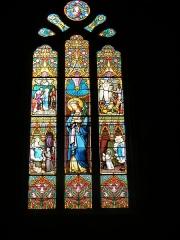 Eglise Saint-Symphorien -  Vitrail chapelle de Sainte Jeanne d'Arc