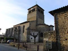 Eglise - English: Taluyers church, back view, Rhône, France