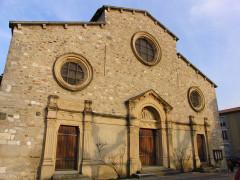 Eglise - English: Taluyers church, front view, Rhône, France