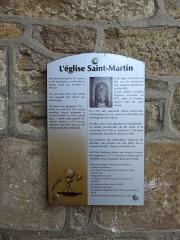Eglise - Français:   Plaque explicative de l\'église Saint-Martin de Ville-sur-Jarnioux (Rhône, France).