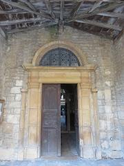 Eglise - Français:   Portail de l\'église Saint-Martin de Ville-sur-Jarnioux (Rhône, France).