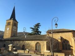 Eglise - Français:   Vue de l\'église Saint-Martin de Ville-sur-Jarnioux (Rhône, France).