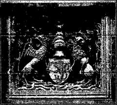 Immeuble - Français:   Armes de la famille de Bessée à Villefranche; illustre «Les vitraux du Moyen âge et de la Renaissance dans la région lyonnaise», de Lucien Bégule.