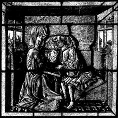 Immeuble - Français:   Vitrail de l\'hôtel de Bessée à Villefranche; illustre «Les vitraux du Moyen âge et de la Renaissance dans la région lyonnaise», de Lucien Bégule.