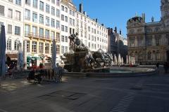 Fontaine Bartholdi - Vue de Lyon.