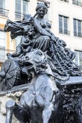 Fontaine Bartholdi - Détail de la fontaine Bartholdi après sa rénovation en 2017