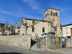 Eglise - English: Chaussan church, Rhône, France