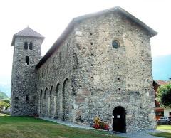 Basilique Saint-Martin - Français:   Aime - Eglise Saint-Martin - Façade