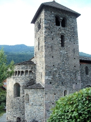 Basilique Saint-Martin - Français:   Aime - Eglise Saint-Martin - Clocher, abside et absiiole