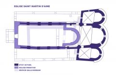 Basilique Saint-Martin - Français:   Eglise Saint Martin d\'Aime, Savoie, Plan