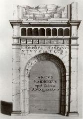 Arc de Campanus -  Gravure de l'Arc de Campanus, Aix-les-Bains