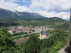 Château de Manuel à Conflans - Français:   Conflans (Savoie): vue sur Albertville et sur château Manuel de Locatel