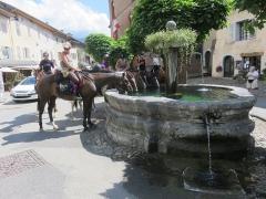 Fontaine - Français:   La fontaine de la Grande-Place, Conflans (Albertville).