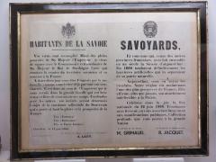 Petit Palais de Conflans - Français:   Musée d\'art et d\'histoire de Conflans: déclaration de l\'annexion de la Savoie à la France du 14 juin 1860