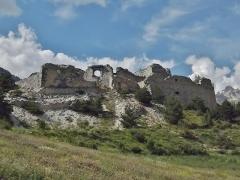 Forts de l'Esseillon : Fort Charles-Félix - English: Sight of the fort Charles-Félix fortifications ruins, near Aussois and Avrieux in Savoie, France.