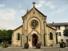 Ancien prieuré - English: Facade of the Bourget-du-Lac's Church
