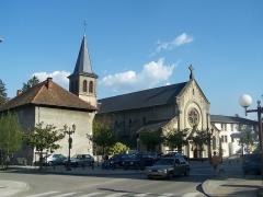 Ancien prieuré - English: Église Saint-Laurent church of the Savoyan city of Le Bourget-du-Lac, in France.