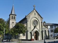 Ancien prieuré - English: Sight of the église Saint-Laurent church of Le Bourget-du-Lac in Savoie, France.