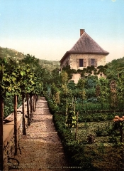 Maison des Charmettes - English: Jean-Jacques Rousseau's home, Charmettes, near Chambéry, France.