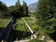 Maison des Charmettes - English: Botanic garden of Les Charmettes building and museum of Chambéry (Savoie, France), where lived a couple of years the philosopher Jean-Jacques Rousseau in the 18th century.
