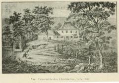 Maison des Charmettes - English: Sketch of